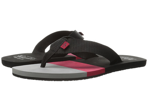 Original Penguin - Volley (Black/Sky) Men's Sandals