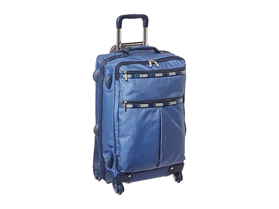 LeSportsac Luggage - 22 4 Wheeled Luggage Carry On (Dark Denim Pique TR) Carry on Luggage
