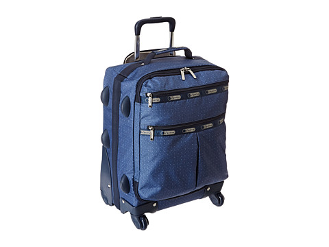 LeSportsac Luggage - 18 4 Wheeled Luggage (Dark Denim Pique TR) Carry on Luggage