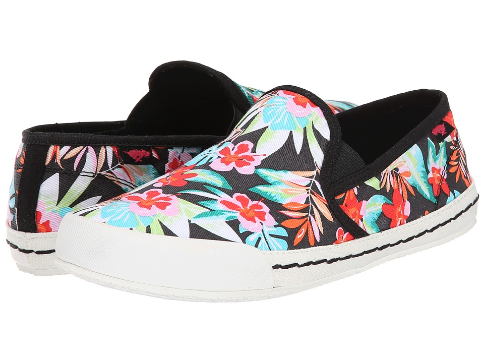 Rocket Dog - Scoop (Black Hawaii Dream) Women's Slip on Shoes