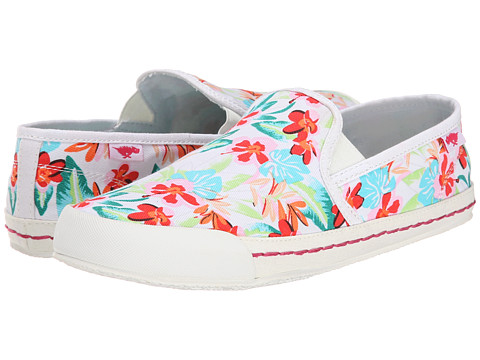 Rocket Dog - Scoop (White Hawaii Dream) Women's Slip on Shoes