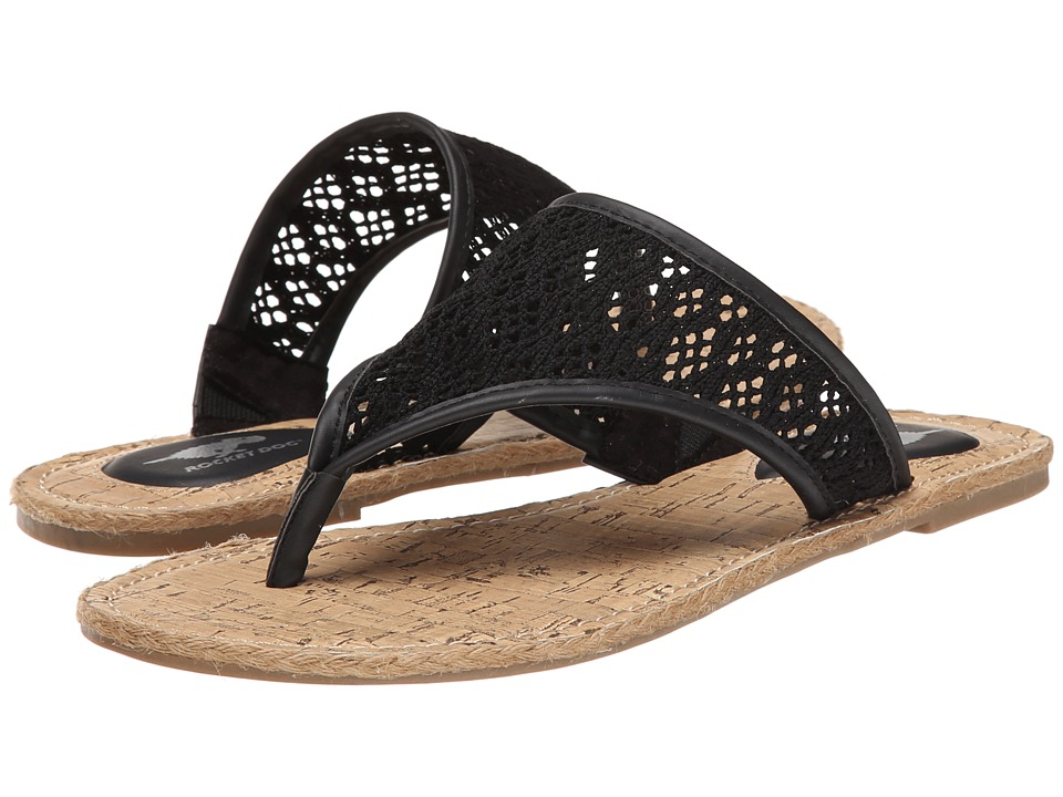 Rocket Dog - Fannie (Black Lovely Crochet) Women's Sandals