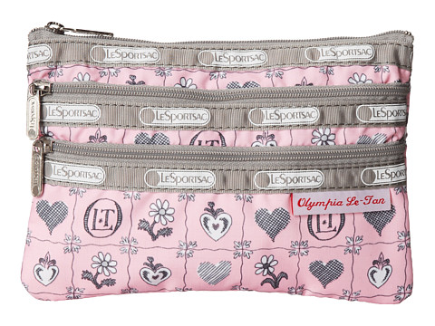 LeSportsac - Three Zip Cosmetic (Blooming Hearts) Cosmetic Case