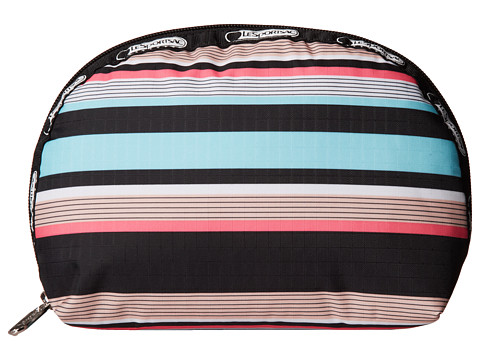 LeSportsac - Medium Dome Cosmetic (Tennis Stripe) Cosmetic Case