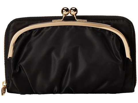 LeSportsac - Sig Wallet (Black Twill Cream) Clutch Handbags