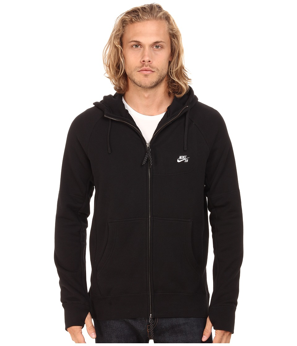Nike SB - SB Everett Graphic Full Zip Hoodie (Black/White) Men's Sweatshirt