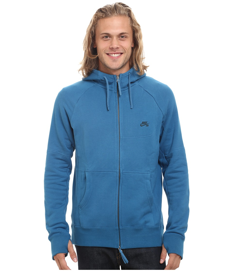 Nike SB - SB Everett Graphic Full Zip Hoodie (Brigade Blue/Midnight Teal) Men's Sweatshirt