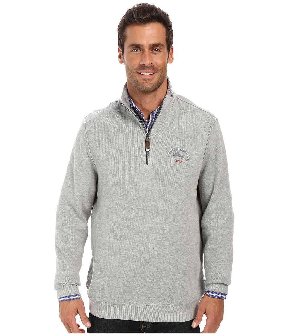 Tommy Bahama - Aruba Half Zip Sweatshirt (Grey Heather) Men