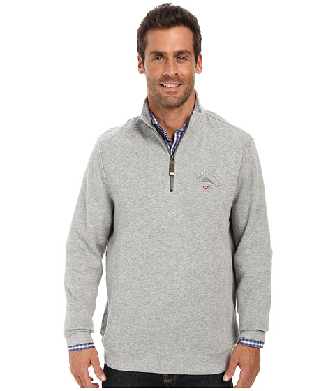 Tommy Bahama - Aruba Half Zip Sweatshirt (Grey Heather) Men's Sweatshirt