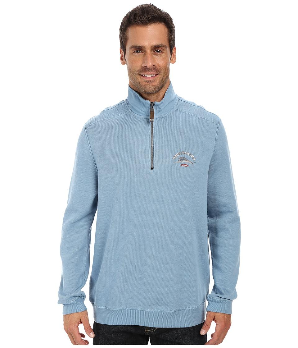 Tommy Bahama - Aruba Half Zip Sweatshirt (Agava) Men