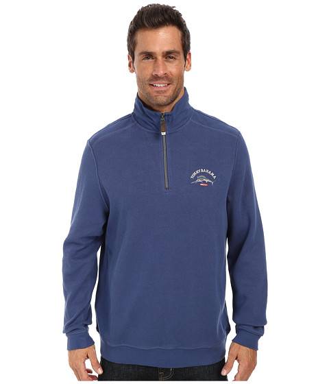 Tommy Bahama - Aruba Half Zip Sweatshirt (Dockside Blue) Men's Sweatshirt