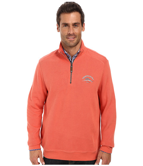 Tommy Bahama - Aruba Half Zip Sweatshirt (Dark Punch) Men