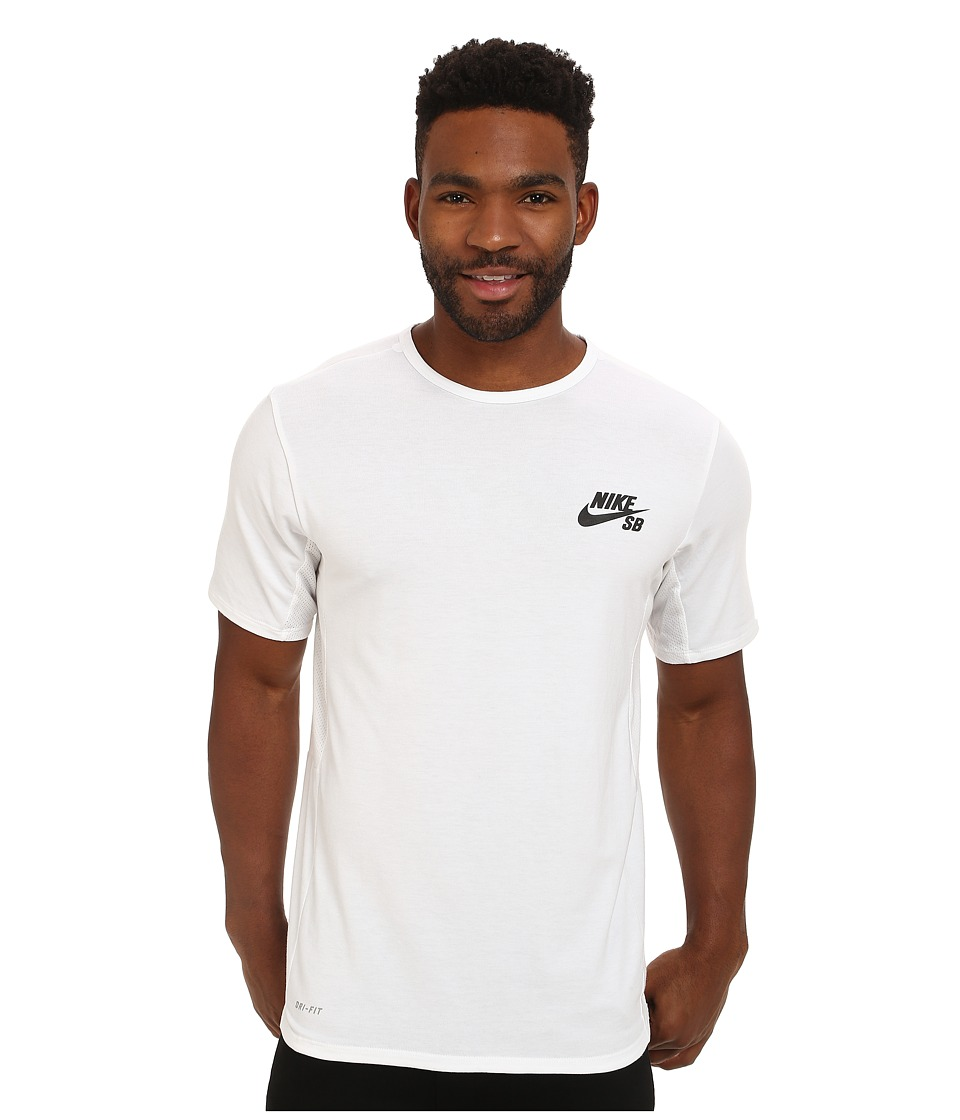 Nike SB - SB Skyline Dri-Fit Short Sleeve Crew (White/Black) Men's Short Sleeve Pullover