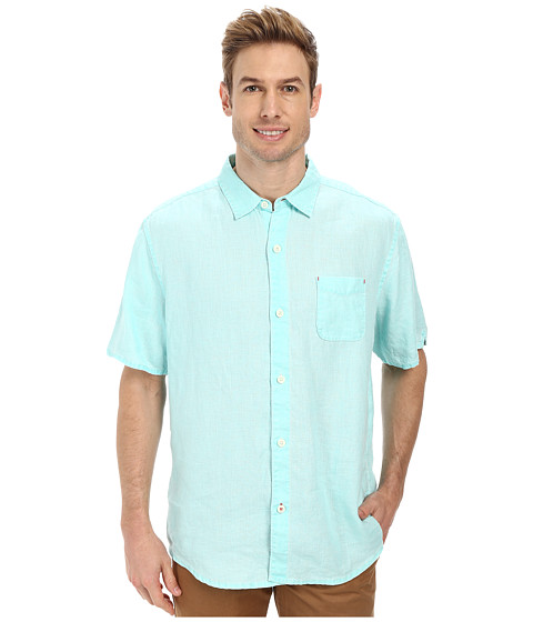 Tommy Bahama - Sea Glass Breezer S/S Camp Shirt (Lawn Chair) Men