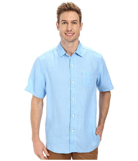 Tommy Bahama - Sea Glass Breezer S/S Camp Shirt (Blue Yonder) Men