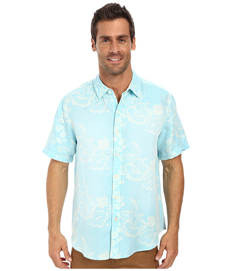 Tommy Bahama - South Beach Breezer Shirt (Aqua Blue) Men's Clothing