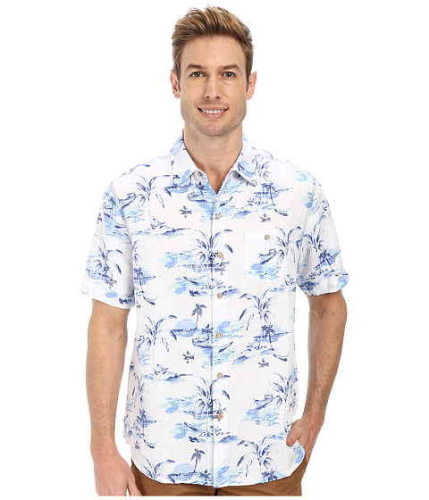 Tommy Bahama - Island Bliss Breezer Camp Shirt (Blue Yonder) Men