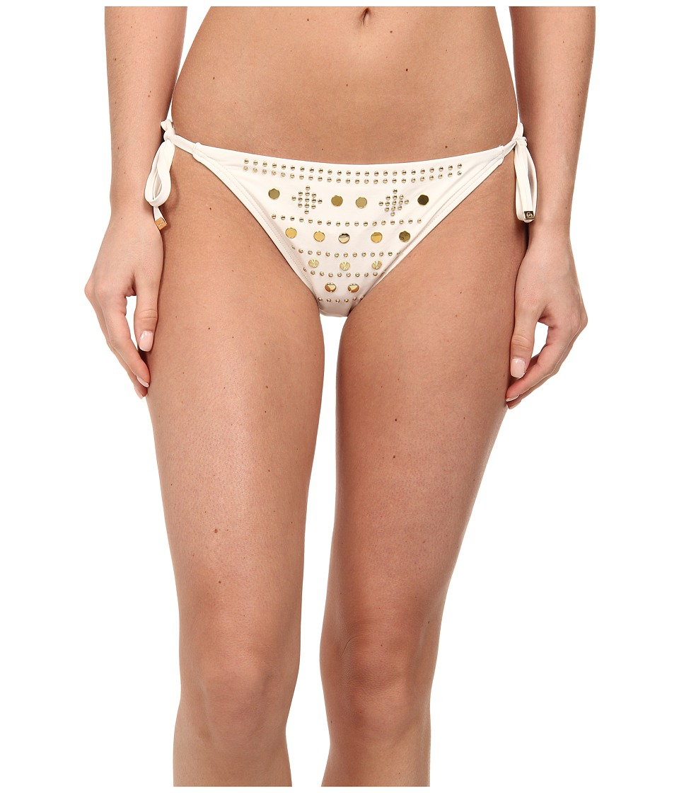 MICHAEL Michael Kors - Boho Solids Side Tie Euro String Bottom (Cream) Women's Swimwear