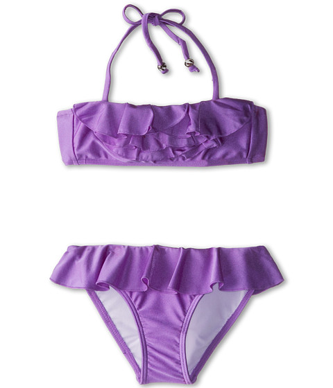Seafolly Kids - Secret Valley Frill Mini Tube Bikini (Little Kids/Big Kids) (African Violet) Girl's Swimwear Sets