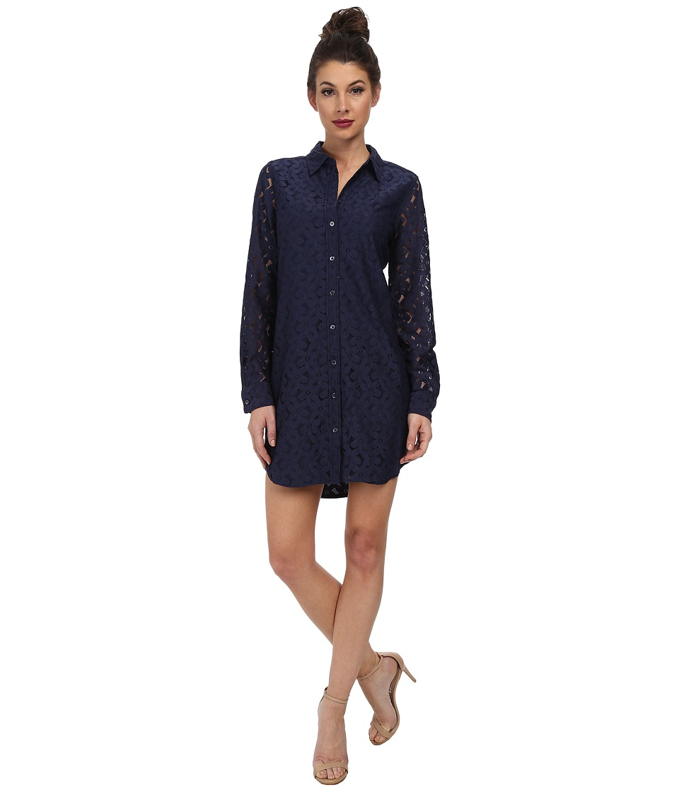EQUIPMENT - Brett Dress (Peacoat) Women's Dress