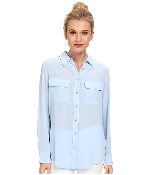 EQUIPMENT - Slim Signature Button Up Solid (Periwinkle Blue) Women