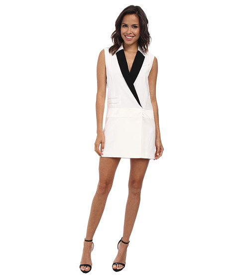 Rachel Zoe - Lusso Tux Dress (Pure White) Women's Dress
