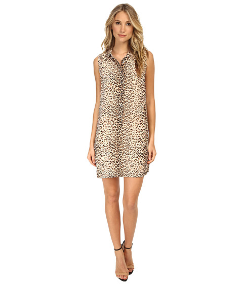 EQUIPMENT - Sleeveless Lucida Dress Leopard Print (Natural Multi) Women's Dress