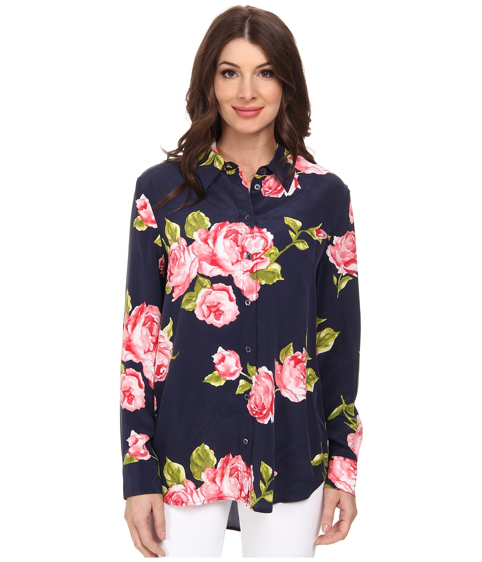 EQUIPMENT - Reese Clean Floral Print Button Up (Peacoat) Women
