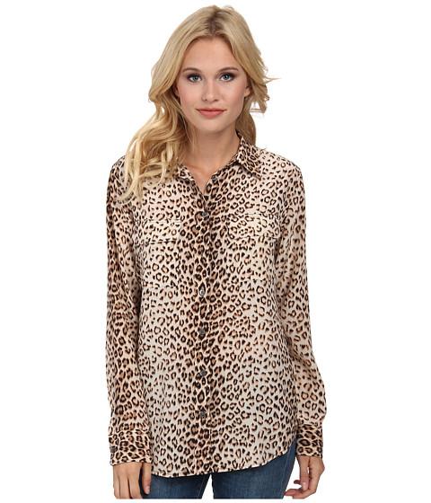 EQUIPMENT - Slim Signature Leopard Print (Natural Multi) Women