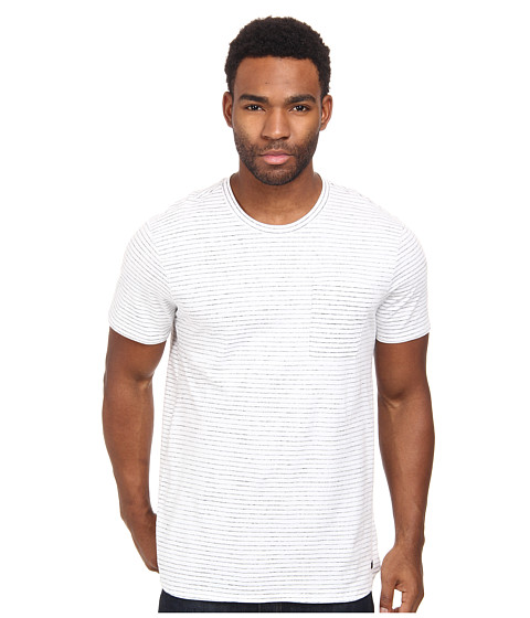 KR3W - Merrill Short Sleeve Crew (White Stripe) Men's Short Sleeve Pullover