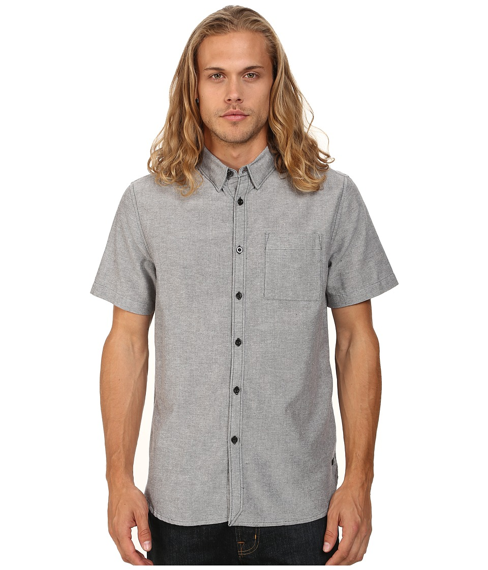 KR3W - Matthews Short Sleeve Shirt (Carbon) Men's Short Sleeve Button Up