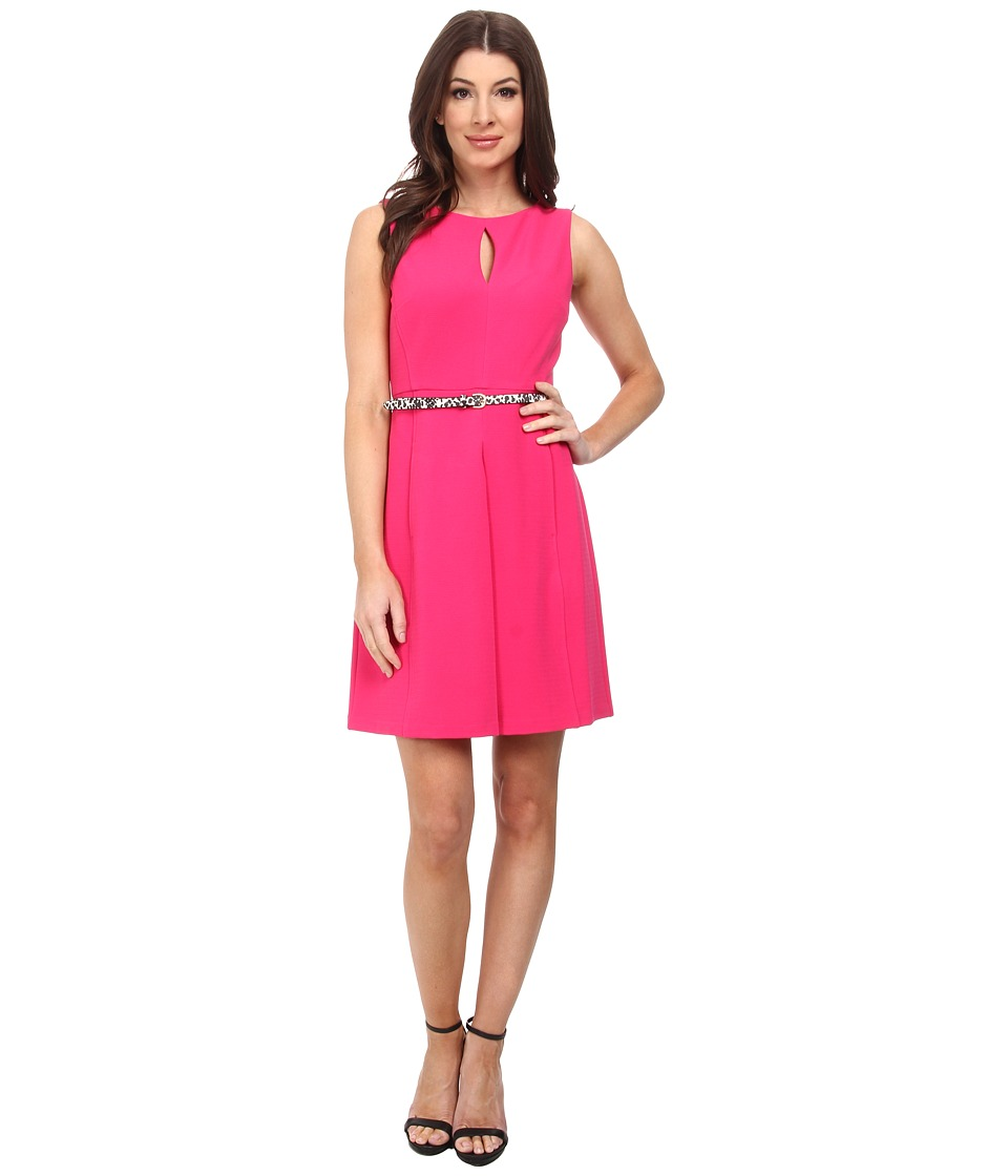 Donna Morgan - Ottoman Fit and Flare with Boat Neck (Punch) Women's Dress