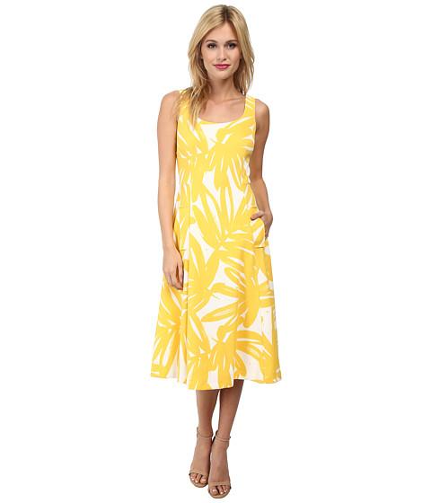Donna Morgan - Pique Knit Sleeveless Scoop Midi Dress (Flan Multi) Women