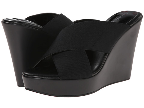 Charles by Charles David - Pal (Black Elastic) Women's Wedge Shoes