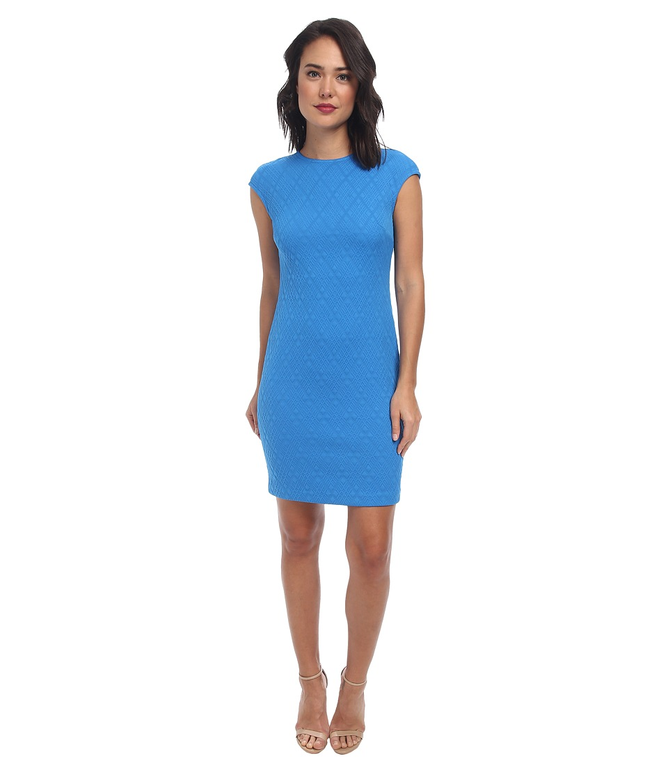 Donna Morgan - Extended Sleeve Knit Dress (French Blue) Women