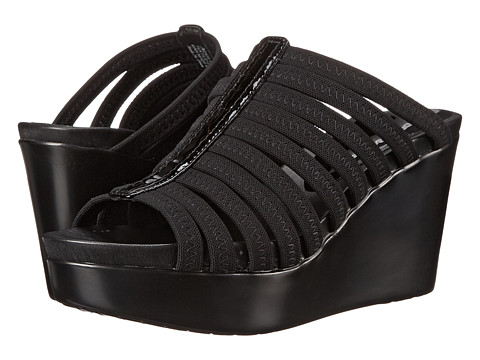 Donald J Pliner - Jackie (Black Mesh Elastic) Women's Wedge Shoes
