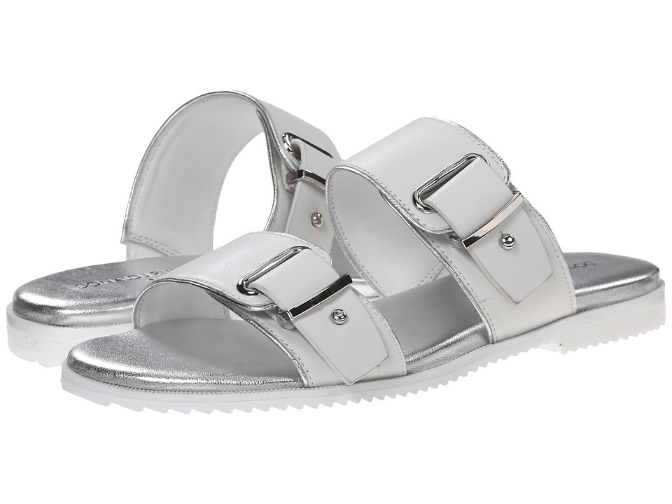 Donald J Pliner - Libra (White/Silver) Women's Slide Shoes