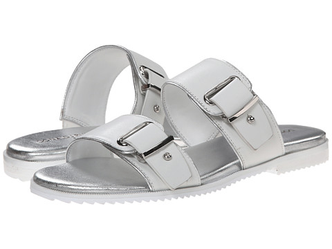 Donald J Pliner - Libra (White/Silver) Women's Slide Shoes