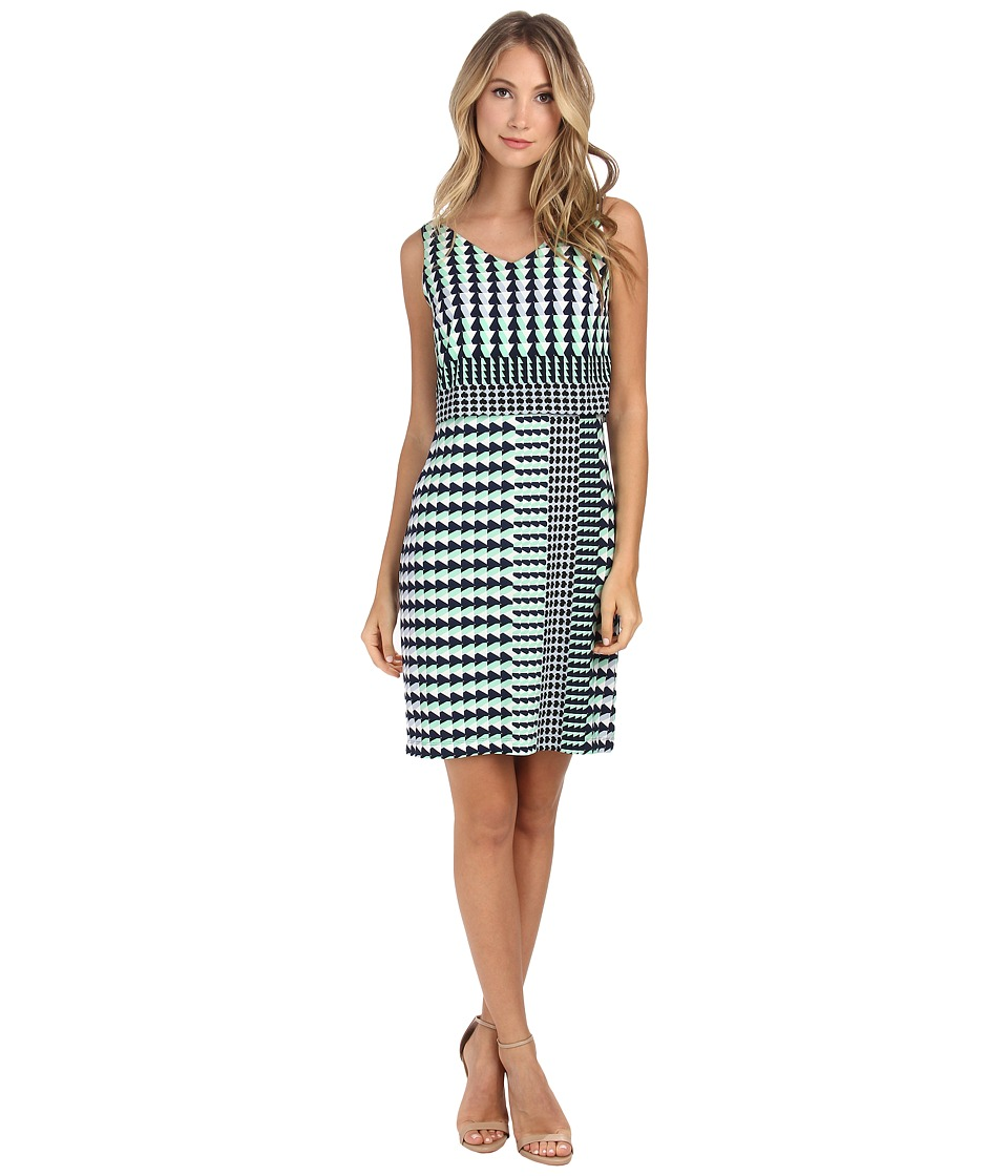 Donna Morgan - Sleeveless Geo Print Jersey Popover (Playground Multi) Women's Dress