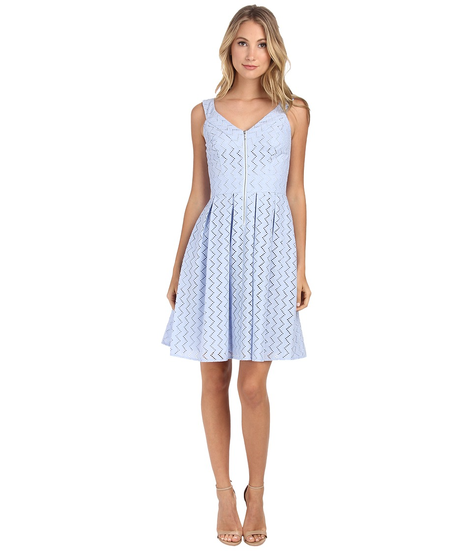 Donna Morgan - Cotton Eyelet Fit and Flare (Volute) Women's Dress