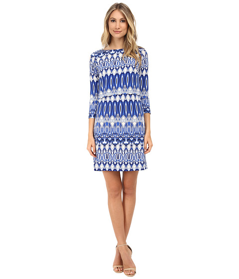 Donna Morgan - 3/4 Sleeve Jersey Popover (Flow Multi) Women's Dress