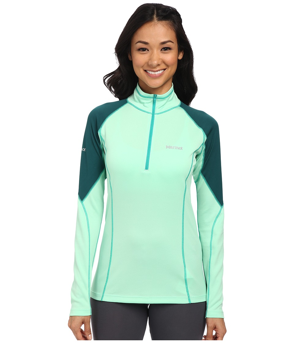 Marmot - ThermalClime Pro L/S 1/2 Zip (Green Frost/Gator) Women's Sweatshirt
