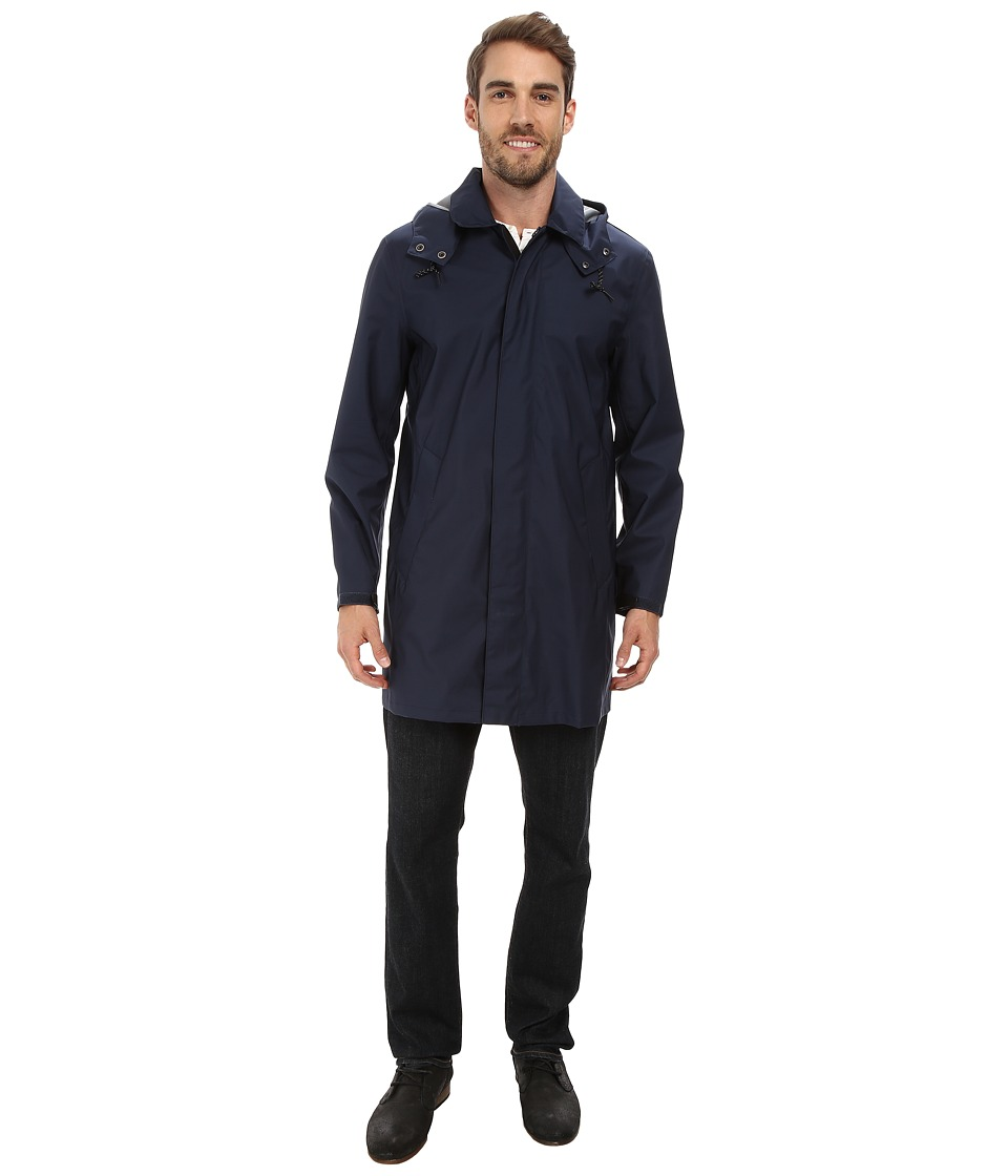 Cole Haan - Bonded Softshell Topper with Seam Seal Tape (Marine Blue) Men