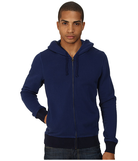 Scotch & Soda - Home Alone Zip-Through Hoodie (Blue) Men's Sweatshirt