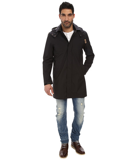 Cole Haan - Bonded Softshell Topper with Seam Seal Tape (Black) Men's Coat