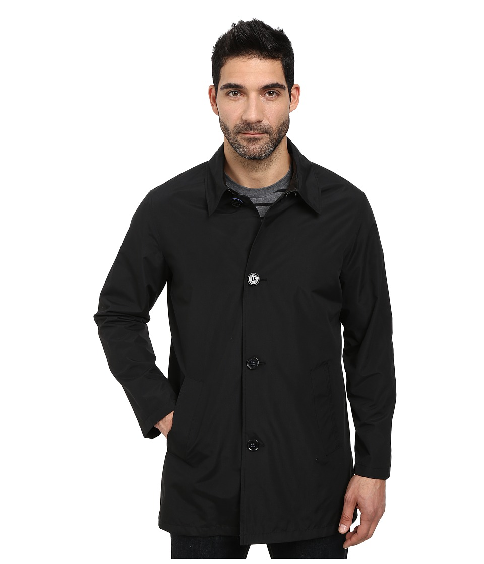 Cole Haan - Nylon Topper with Mesh Lining (Black) Men's Coat