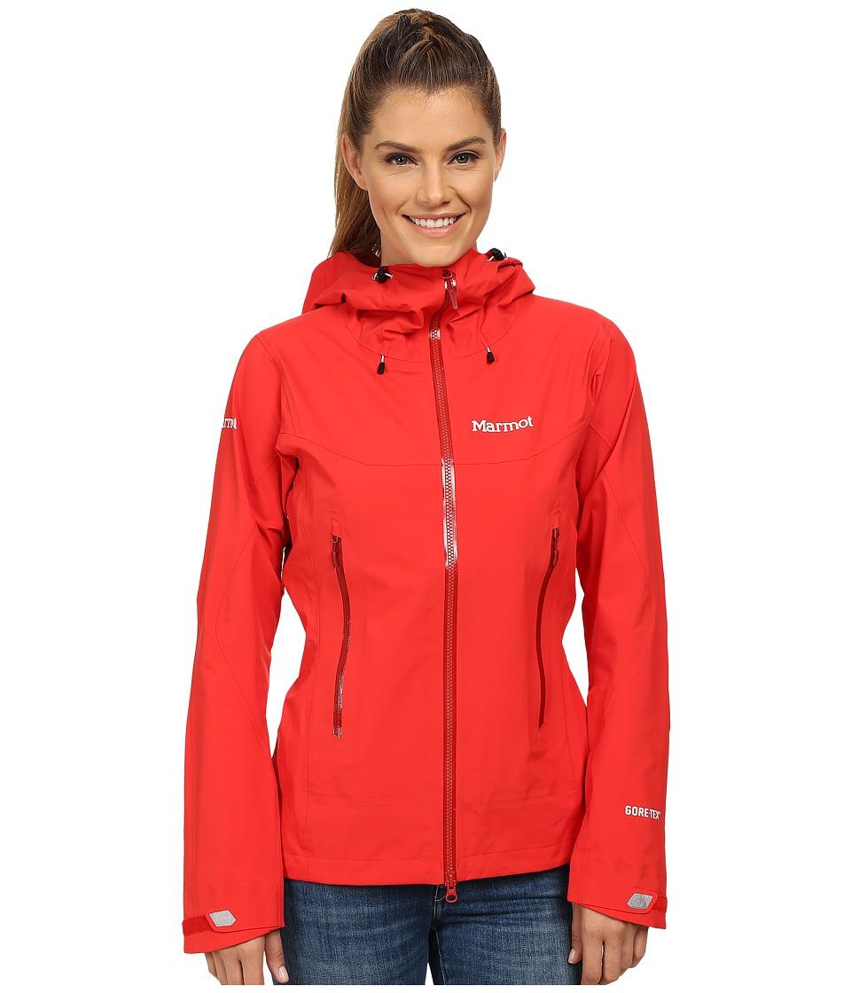 Marmot - Cerro Torre Jacket (Cherry Tomato) Women's Coat