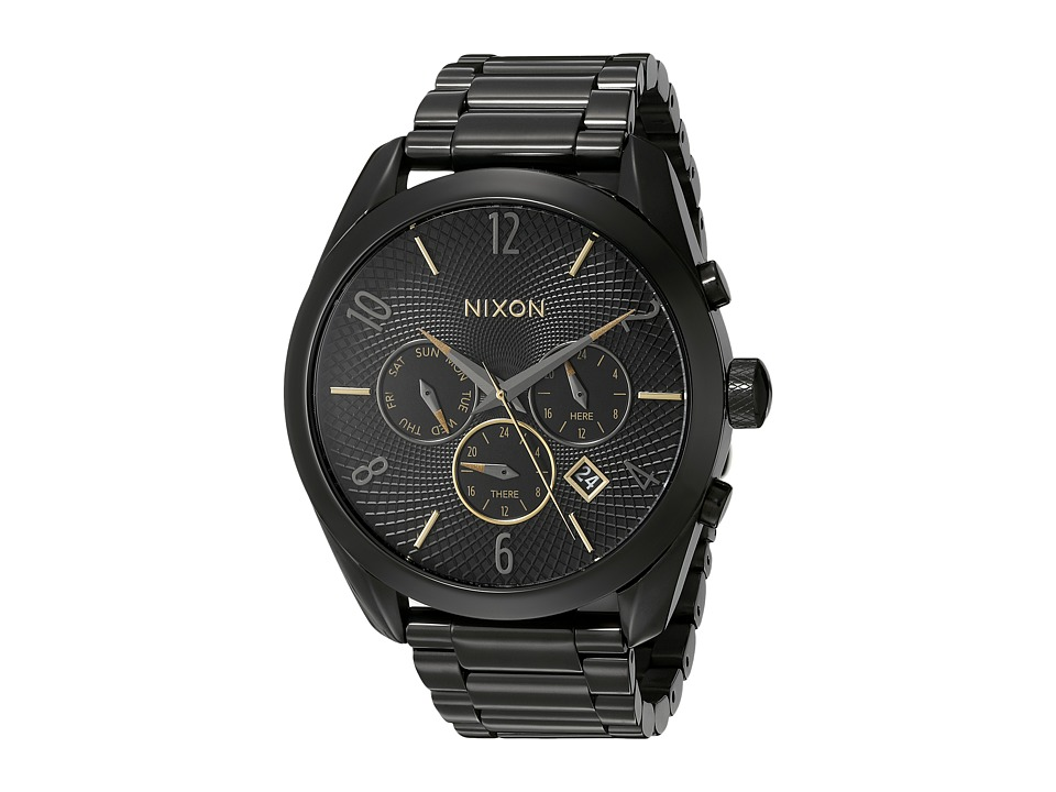 Nixon - Bullet Chrono (All Black/Mixed) Watches