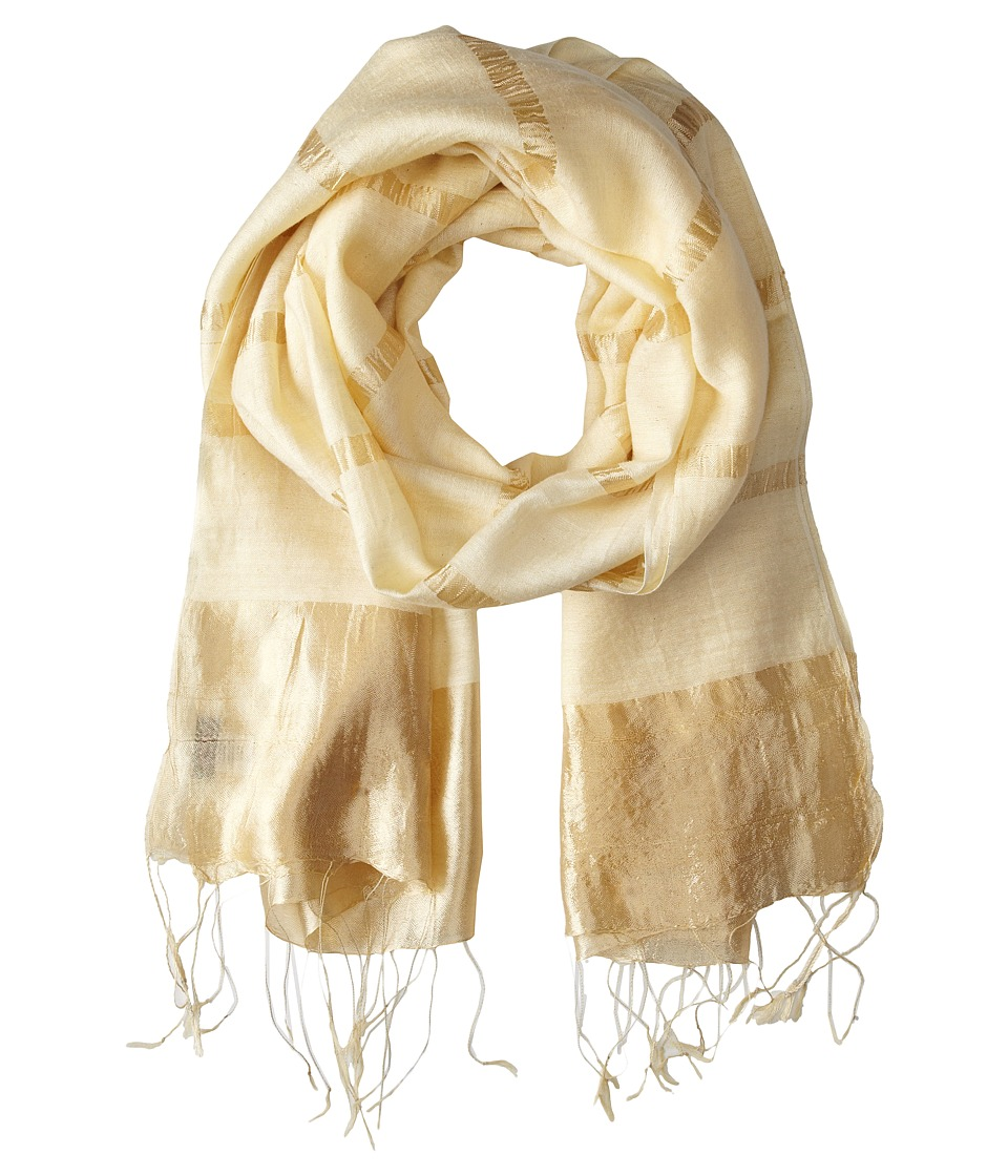 Echo Design - Luxe Striped Wrap (Gold) Scarves