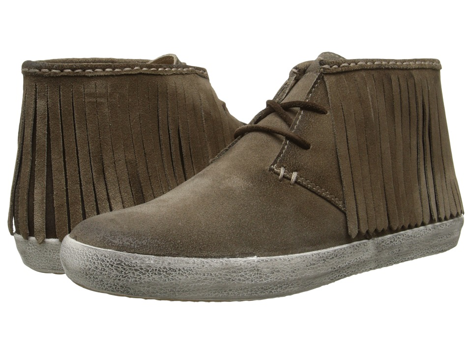 Frye Dylan Fringe (Grey Oiled Suede) Women